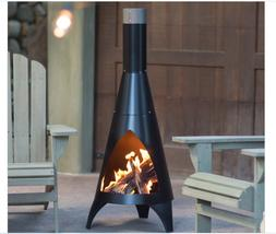 Outdoor Chiminea Wood Burning Fire Pit Fireplace Patio Backy