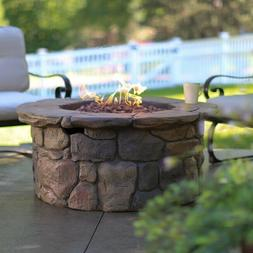 Outdoor Fire Pit  Natural Gas Fire Table Large 45 in Patio D