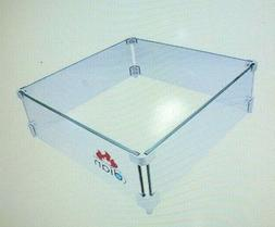 DIAN Outdoor Fire Pit Wind Resistant Tempered Glass Guard Sq