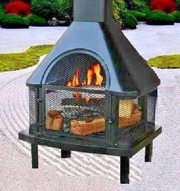 Outdoor Firehouse Fire Pit Large Chimney Patio Heater Cover