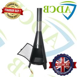 Outdoor Garden Vertical Charcoal Grill with Chimney 122cm BB
