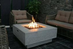Elementi Outdoor Manhattan Fire Pit Table 36 x 36 Inches Nat