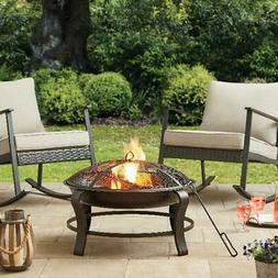 Outdoor Owen Park Round Wood Burning Fire Pit for Camping Pa