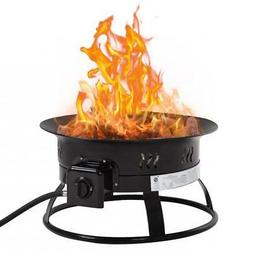 Outdoor Propane Gas Fire Pit Portable patio Fire Bowl 19Inch