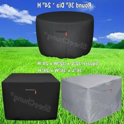 Outdoor Square Round Gas Fire Pit Cover Durable Waterproof P