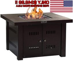 Outdoor Tabletop Gas Fire Pit Patio Table Top Propane Firepl