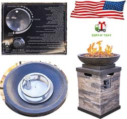 Patio Deck Fire Pit Table Outdoor Gas Fireplace Bowl Propane