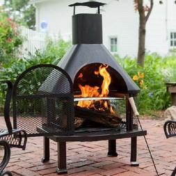 Outdoor Fireplace Patio Fire Pit Wood Burning Pit Chiminea H