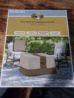 Patio Gas Fire Pit Cover Hampton Bay Large Square Outdoor 40