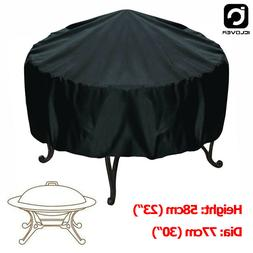 30-inch Patio Round Fire Pit Cover Waterproof UV Protector G