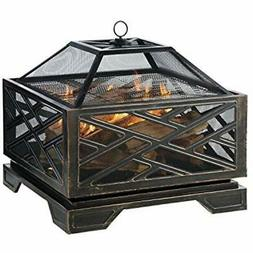 Pleasant Hearth Martin Extra Deep Wood Burning Fire Pit, 26-