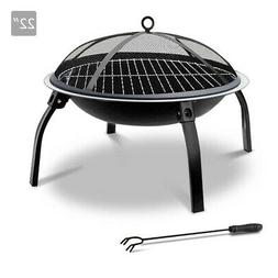 Portable Foldable Outdoor Firepit Fireplace 22 Inch Foldable