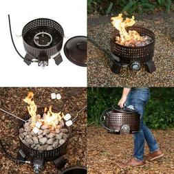 Portable Outdoor Propane Gas Fire Pit Camping Backyard Patio