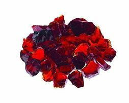 """PREMIUM RUBY RED - 1/4"""" Fire Glass Fireplace & Fire Pit Fire"""