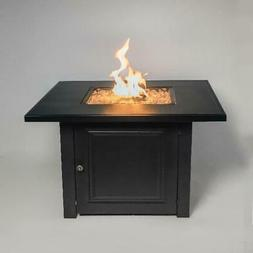 """Propane Fire Pit Table 28"""" Matte Black with Free Arctic Ice"""