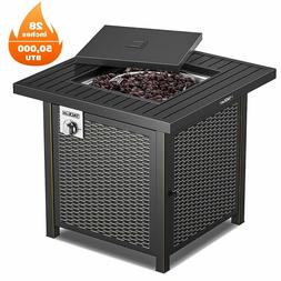 TACKLIFE Propane Fire Pit Table, Outdoor Companion, 28 Inch