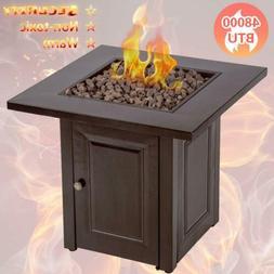 Propane Fire Pit Table Patio Heater Outdoor Gas Table Firepl