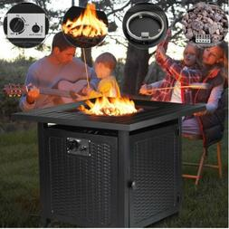 Propane Gas Fire Pit Patio Heater Outdoor Table 50000BTU wit