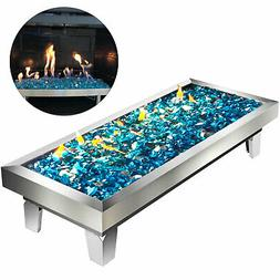 Rectangular Lavelle Table Top Fire Pit Pan/Fire Bowl with Li