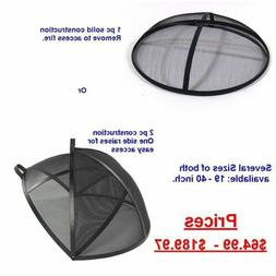 Replacement Fire Pit Metal Spark Screen Cover 19 21 22 24 25