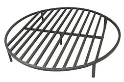 Round Fire Pit Grate 28 Heavy Duty Grill Cooking Campfire Ca