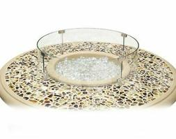 American Fyre Designs Round Glass Wind Guard Fire Table Acce
