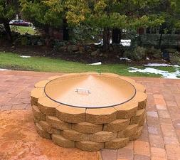 """Round Metal Gas-Wood Fire Pit Campfire Ring Cover 42"""" diamet"""
