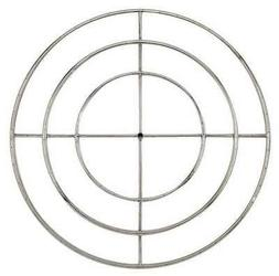 American Fireglass Round Stainless Steel Fire Pit Burner, Na