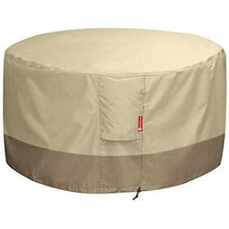 SheeChung Fire Pit Cover Round - 600D Heavy Duty Patio Outdo