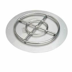 Stanbroil Stainless Steel 30' Round Flat Fire Pit Pan W/24 F
