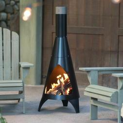 Steel Chiminea Outdoor Wood Burning Fireplace Fire Patio Pit