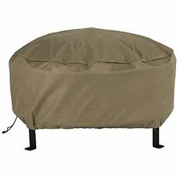 Sunnydaze Outdoor Round Fire Pit Cover - Weather Resistant a