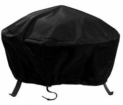 Sunnydaze Outdoor Round Fire Pit Cover with Drawstring and T