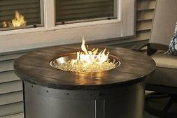 The Outdoor GreatRoom Company Edison Round Gas Fire Pit Tabl