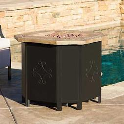 Tiburon Outdoor Outdoor Octagonal Fire Pit by Christopher Bl