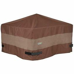 Ultimate Square Fire Pit Cover, 32-Inch With Garden &amp Out