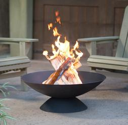 Wood Burning Fire Pit Outdoor Cast Iron Bowl Yard Cooking Ro