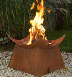 Wood Burning Fire Pit Outdoor Fireplace Bowl Rustic 19 inch