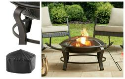 wood burning fire pit outdoor heater backyard