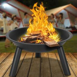 Wood Burning Fire Pit table Fire Bowl Portable BBQ Cooking C