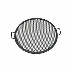 Sunnydaze X-Marks Fire Pit Cooking Grill, 24 Inch Diameter