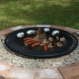 Sunnydaze X-Marks Fire Pit Cooking Grill, 40 Inch Diameter