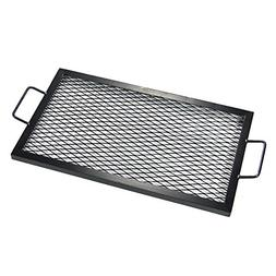 Sunnydaze X-Marks Rectangle Fire Pit Cooking Grill, 36 Inch